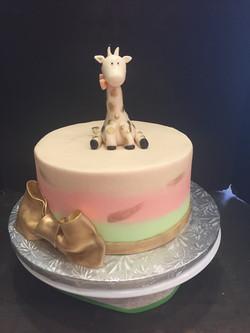 Gold & Cream Giraffe Cake