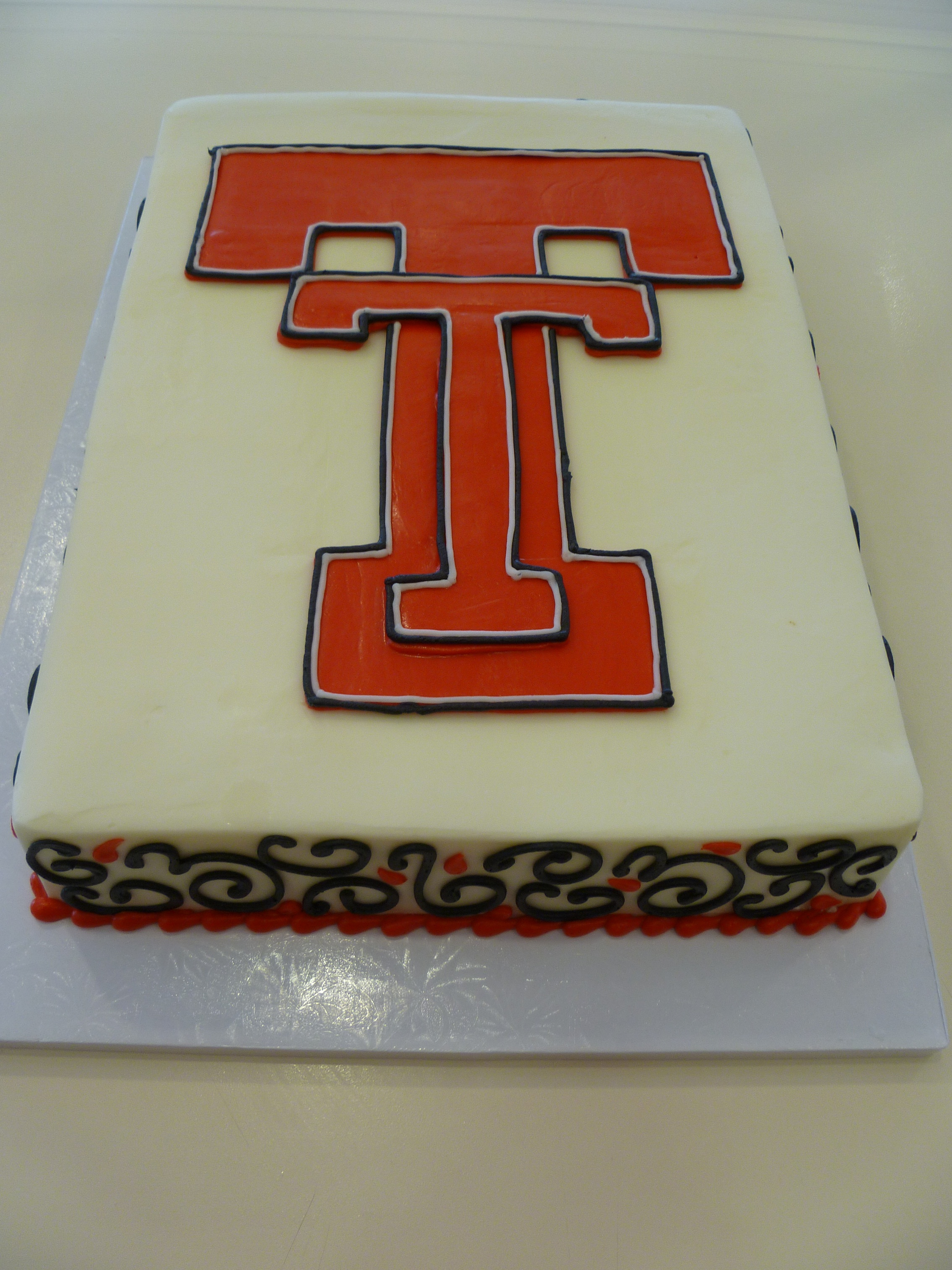 Texas Tech sheet cake