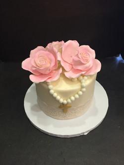 Lace & Roses Cake