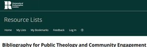 Bibliography Public Theology and Community