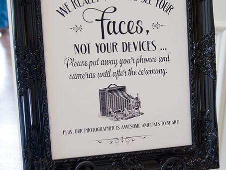 Unplug Your Ceremony!