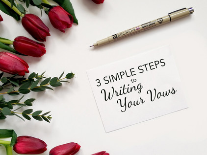 3 Steps to Vow Writing