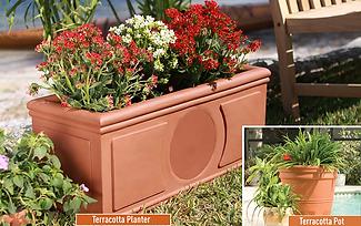 planter plant pot speaker outdoor instal