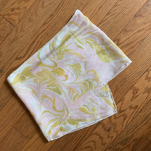 Hand Marbled Silk Scarf