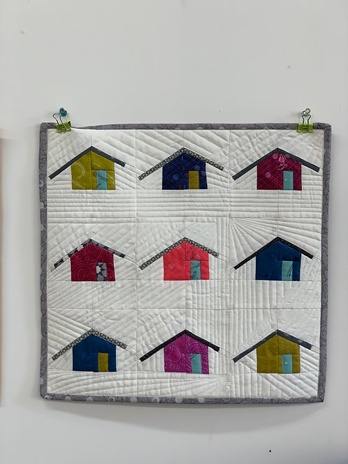 Paper Pieced Outhouse Block with Maria