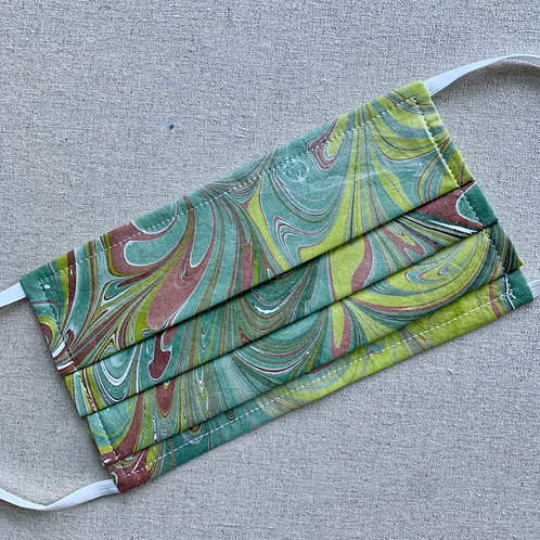 Marbled Cotton Face Mask