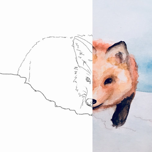 Wintry Fox Paint Night