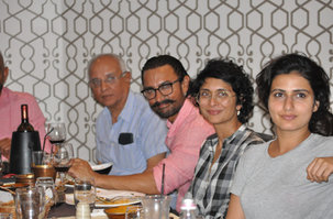 'Thugs of Hindustan' cast and movie stars dining at Saffron Restaurant.