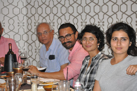 'Thugs of Hindustan' cast and movie stars dining at Saffron Restaurant.