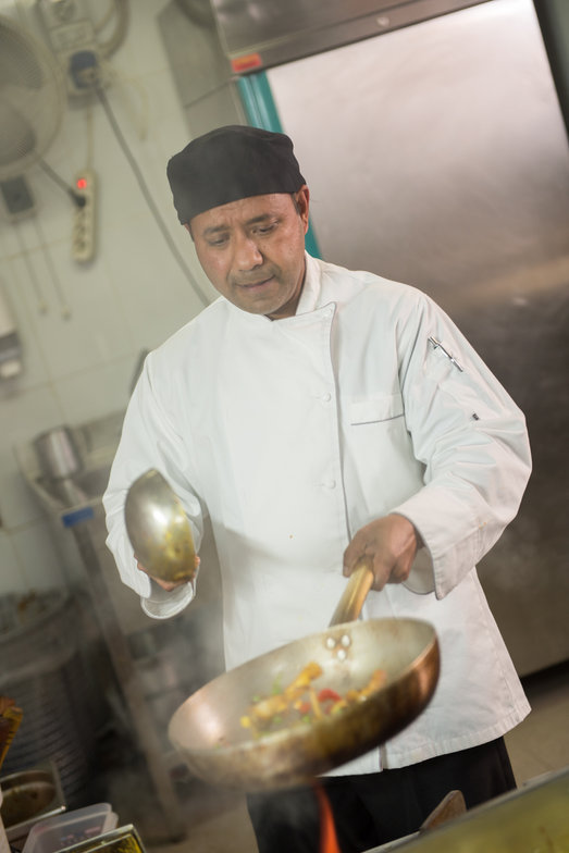 Chef-Patron Sudip striving for perfection in the kitchen.