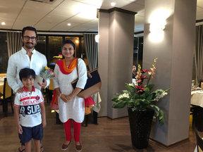 Mr. Amir Khan at Saffron Restaurant.