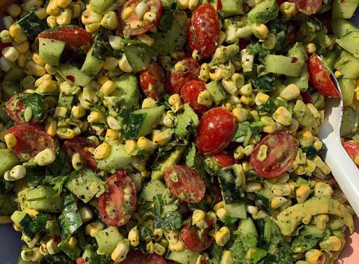 Summer Corn Tomato Cucumber Salad
