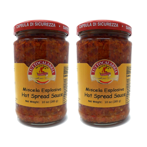 Tutto Calabria Hot Chili Pepper Spread, 2 Pack