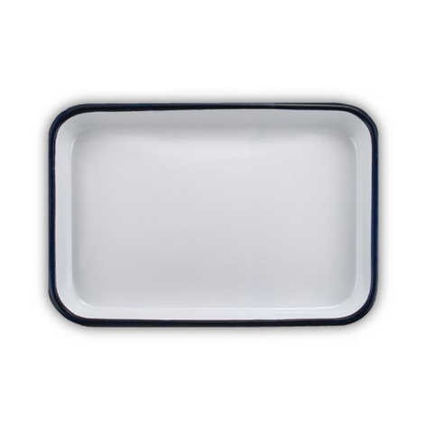 7 x 10.5 inch Enamelware Serving Tray