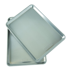 Nordic Ware Natural Aluminum Commercial Baker's Half Sheet, 2 Pack
