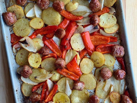 Sausage and Peppers...and Potatoes and Onions