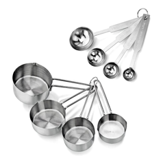 Stainless Steel Measuring Spoons and Measuring Cups Combo