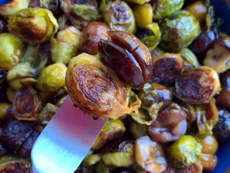 Sweet and Tangy Roasted Brussels Sprouts