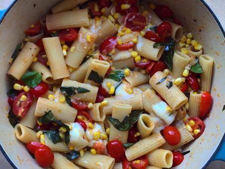 Summer Corn Tomato Pasta