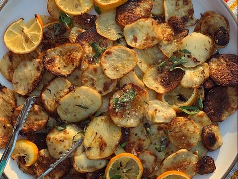 Crispy Lemony Oregano Potatoes