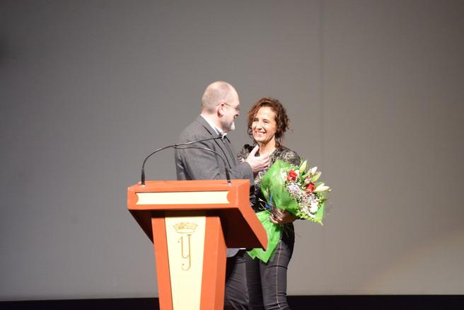 EstrenPilar Sánchez Dauro, estreno inernacional pelicula El día en teatro Isabel la Católica