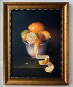 """Картина масло """"Лимоны в чаше"""""""