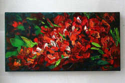 """Картина маслом """"Цветочная гроздь"""""""