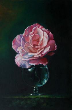 """Картина маслом """"Роза в бокале"""""""