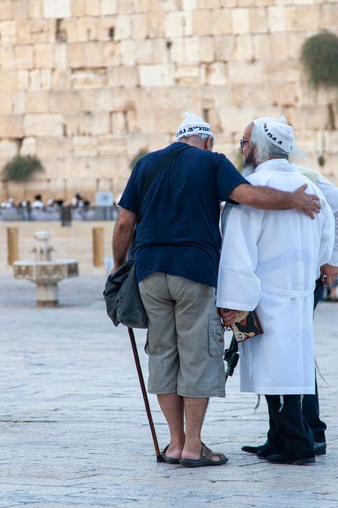 zusammenstehen in Jerusalem