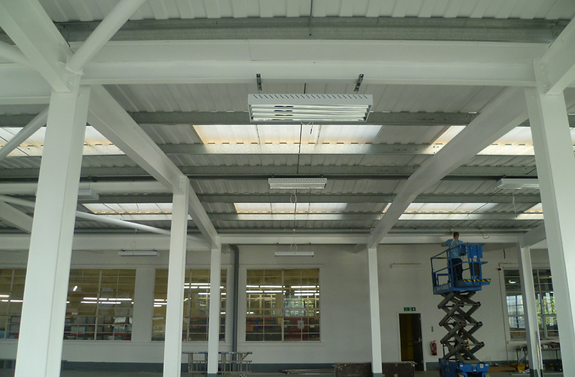 A new build factory with a complete electrical installation including: power, lighting and data cabling installations throughout the building in Manchester.