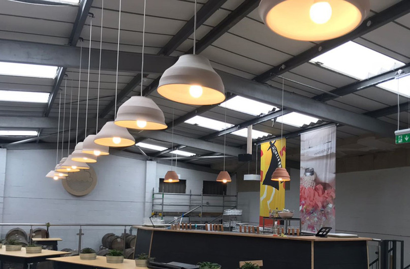 New unit electrics for a brewery including emergency lighting, LED lighting and power in Manchester.