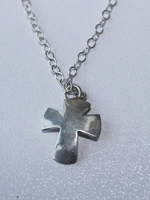 small cutout sterling silver cross