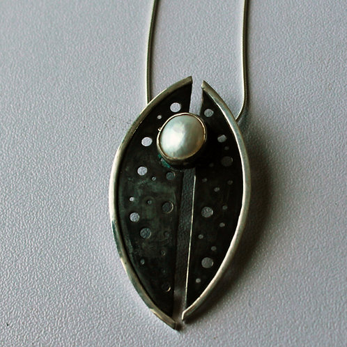 Sterling Silver Rebirth Pendant with pearl