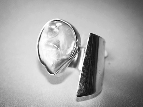Baroque Pearl Sterling Silver Ring