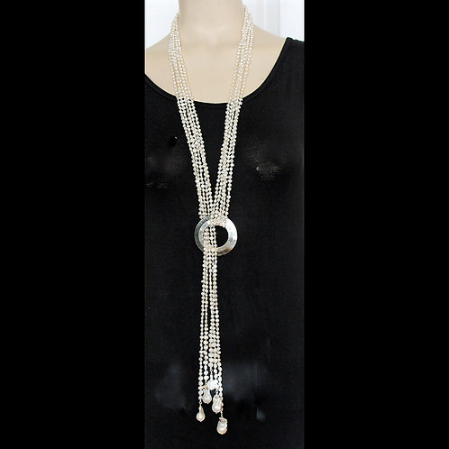 multi strand lariat necklace