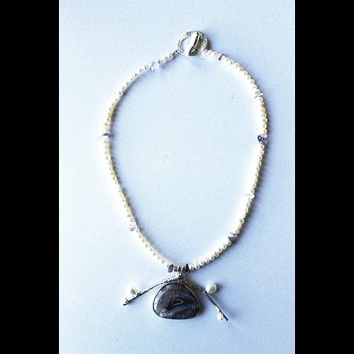 druzy amethyst pendant