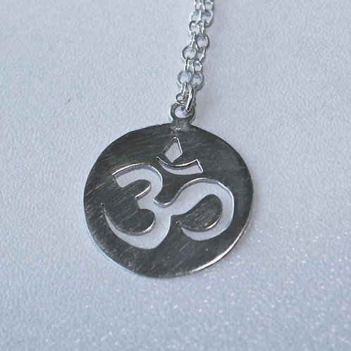 """OM pendant in silver"