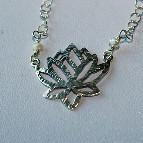 lotus pendant in sterling silver
