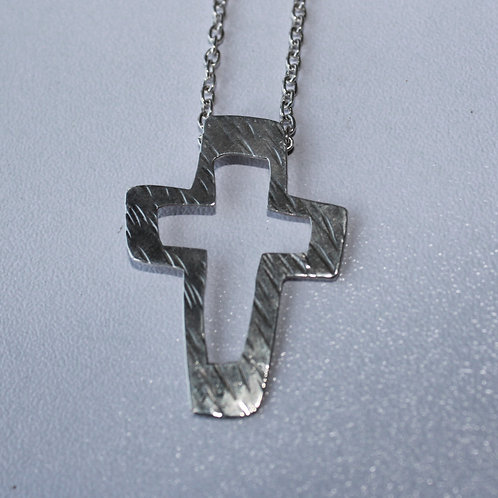 sterling silver cutout cross