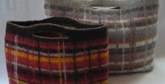 Portland Plaid City Bag Knitting Pattern