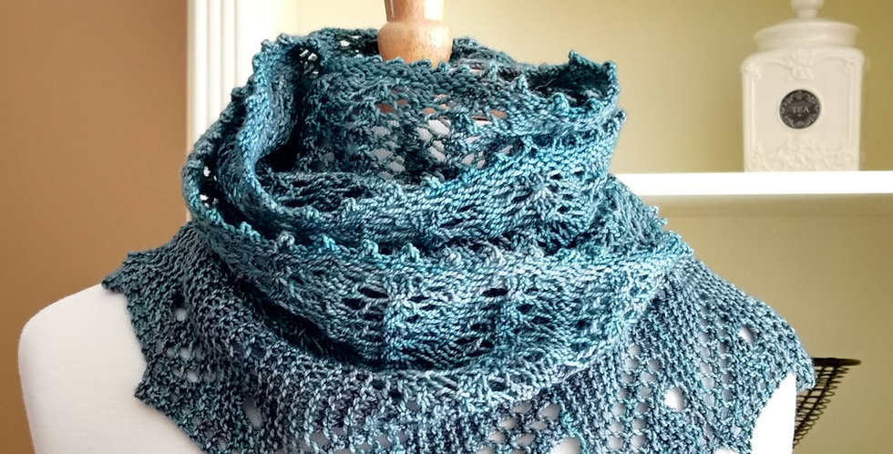 Front Porch Fern Leaf Lace Scarf