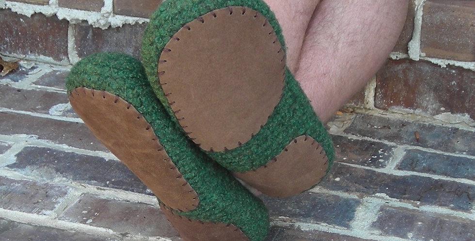 Slipper Soles Leather non-slip for men's slippers knit crochet felted slippers -