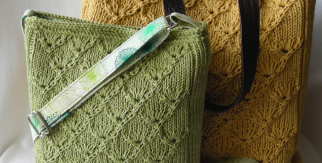 Espalier Bags Knitting Pattern - Hipster and Tote