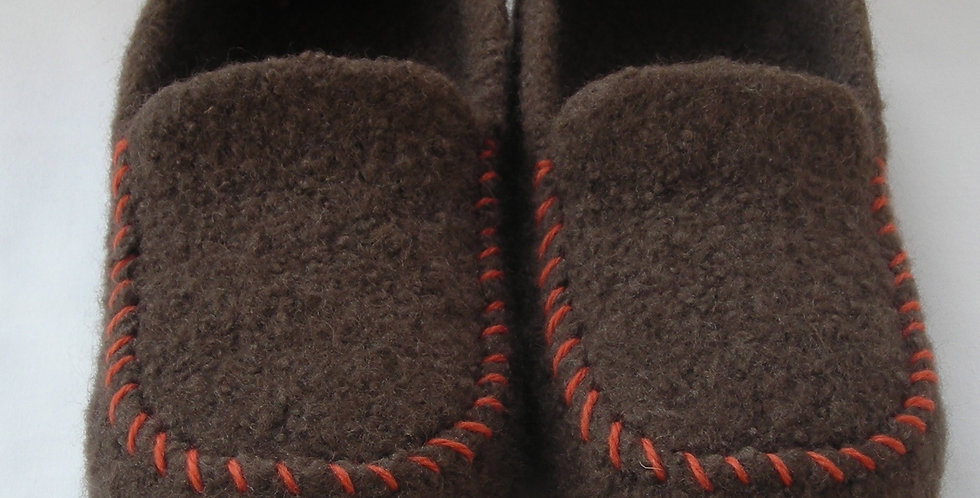 Mens Felted Moc Slippers