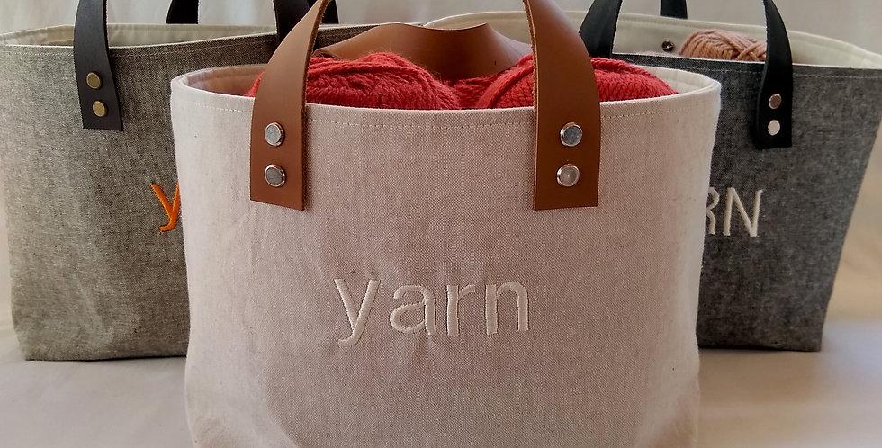 Leather removable straps handles for DIY knit crochet sewn basket shoulder bag h