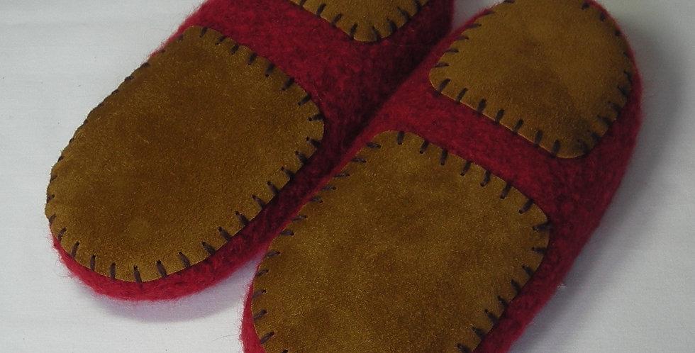 Leather slipper soles for women's slippers non-slip for knitting crochet felted