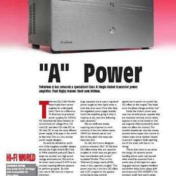 Iridium 20 power amplifier, class A