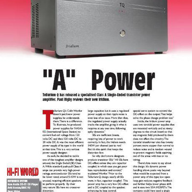 Iridium 20 power amplifier, class A