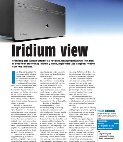 TQ Iridium Colin Wonfor class A SECA