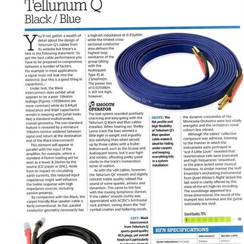 Tellurium Q review, designed Colin Wonfor